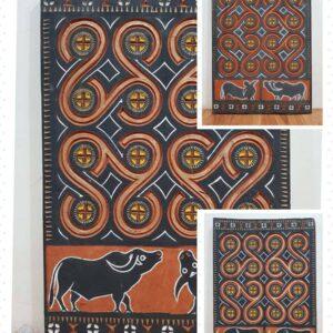 Toraja House Reproduction Panel - Ulukarua & Buffalo (37cm x 52cm)