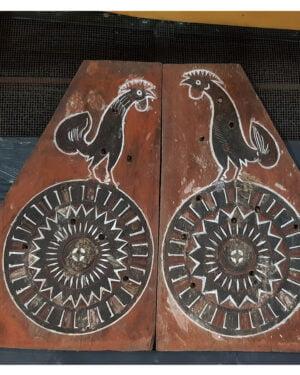 Antique Carved Toraja Triangle House Panel (100cm x 70cm)